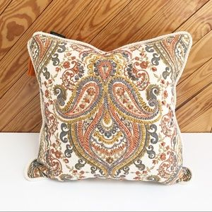 Boho Embroidered Pillow 20 x 20